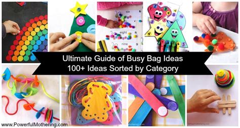 Ultimate Guide Of Busy Bag Ideas  100+ Ideas Sorted By