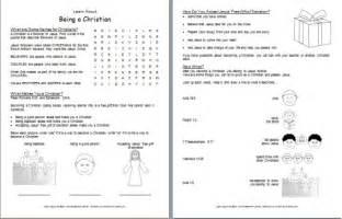 Christian Printable Bible Worksheets