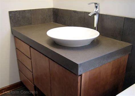 custom bathroom vanity tops with sinks concrete vanity top with vessel sink concrete vanity