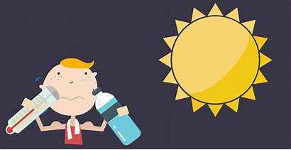 Heat Stroke Exhaustion Versus Health