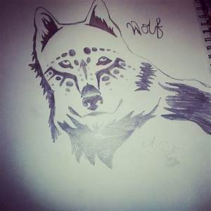 tribal wolf pencil drawing | Things I love | Pinterest