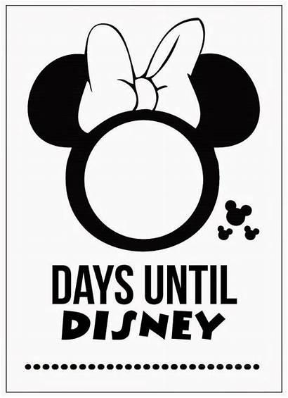 Countdown Disney Printable Vacation Calendar Template Disneyland