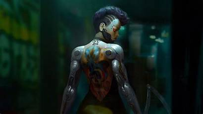 Cyberpunk 4k Wallpapers Tatto Backgrounds Artstation Artwork