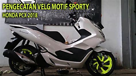 Pcx 2018 Putih Modifikasi by Gambar Modifikasi Honda Pcx Putih Sobotomotif