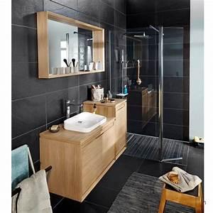 idee cadre bois miroir servant aussi d39etagere salle de With miroir de salle de bain original