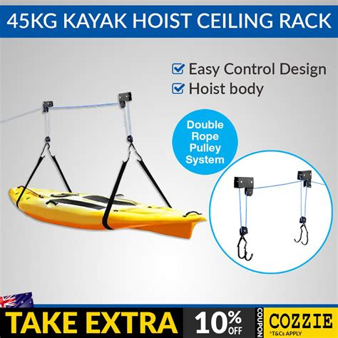 Kayak Ceiling Hoist Australia by Garage Kayak Storage Rack Amazing Deluxe Home Design
