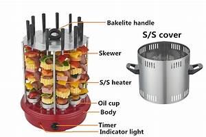 Grille De Barbecue Grande Taille : grande taille 11 brochettes vertical lectrique barbecue ~ Melissatoandfro.com Idées de Décoration