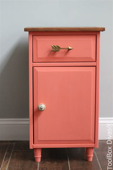 Refinish Nightstand by Furniture Makeover Refinished Nightstand Toolbox Divas