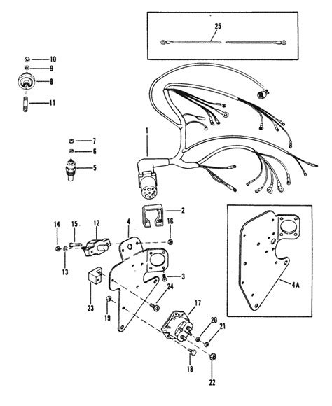 160 Mercruiser Wiring Diagram by Mercruiser 3 0l Gm 181 I L4 1987 1989 Wiring Harness