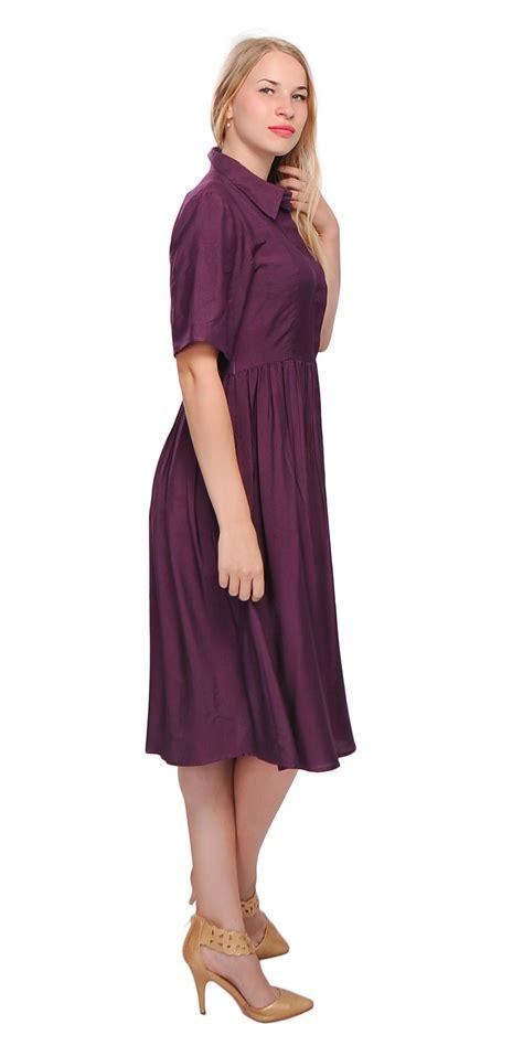dresses for misses silk cotton dresses collared skirt shirt dresses for