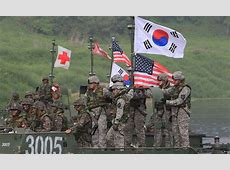 US and South Korean soldiers join forces for river