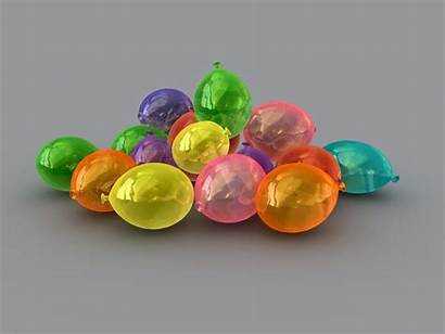 Colorful Balls Water 3d Ovals Abstract Balloons