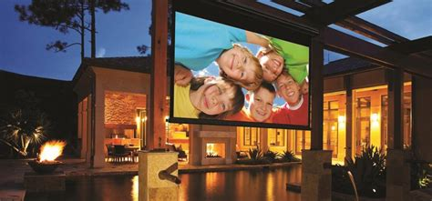 The Best Projector Screens For Home Theater by Why Get An Outdoor Projector Screen