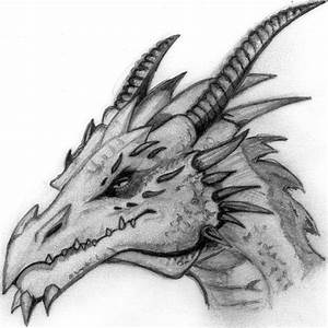Pics For > Cool Dragon Head Drawings In Pencil | art ...