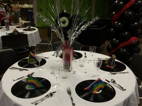 rock n roll prom table decorations prom ideas table decorations