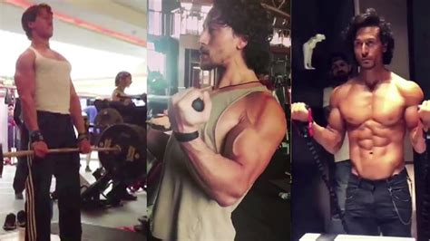 Tiger Shroff's Hard Workout In GYM For Baaghi 2 - YouTube