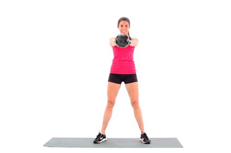 kettlebell swing swings benefits form swinging livestrong exercise woman ls military fitness strong