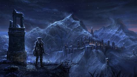 elder scrolls  concept art ruin gaming