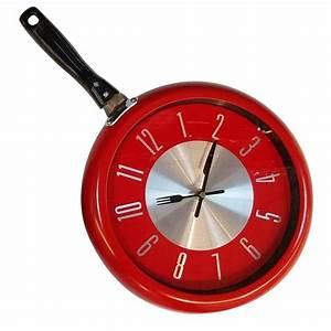 Horloge Murale Rouge : horloge murale po le rouge 29 cm maison fut e ~ Teatrodelosmanantiales.com Idées de Décoration