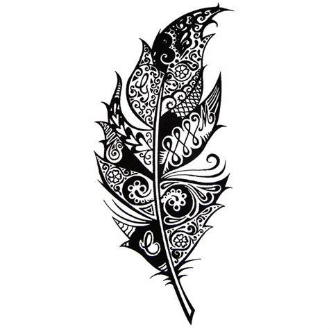 tatouage temporaire plume tribal
