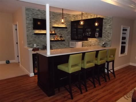 Home Basement Bar by Basement Bar 1 Modern Home Theater Dc Metro By