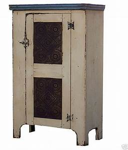 Primitive pie safe cupboard painted country colonial chimney