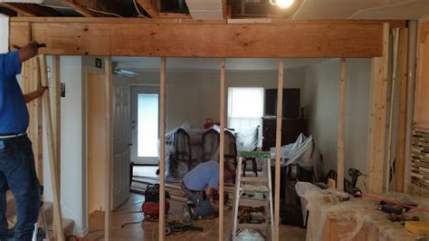 how to remove a load bearing interior wall load bearing wall we took out of a townhouse for a more