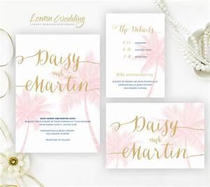 beach themed wedding invitations lemonwedding With wedding invitations palm tree theme
