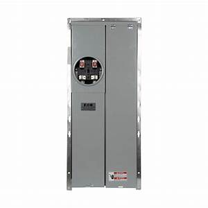 Ge 150 Amp 4 Space 8 Circuit Outdoor Combination Main