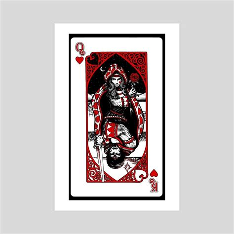 N/a (reward from the 'wheel of love' quest) sellback: King and Queen of Hearts, an art print by Work of Art ...