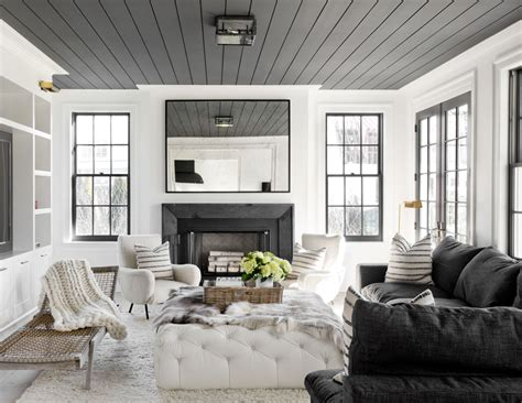 house tour black white gets cozy in this family home