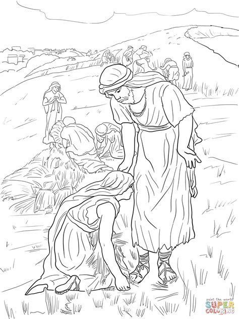 Kleurplaat Ruth by Ruth And Boaz Coloring Page Free Printable Coloring Pages