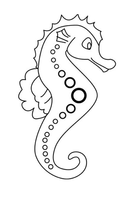 seahorse coloring page seahorse coloring pages pictures
