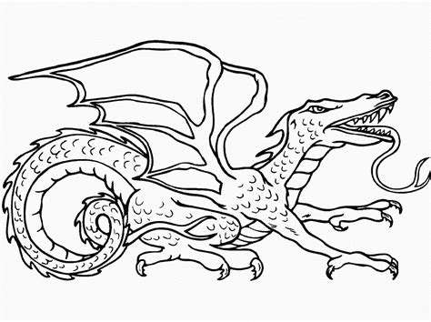 Coloring Pages: Dragon Coloring Pages Free and Printable