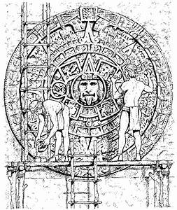 Free coloring pages of aztec calendar