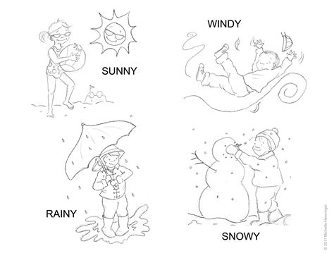 Coloring Weather by Henninger Weather Coloring Sheet