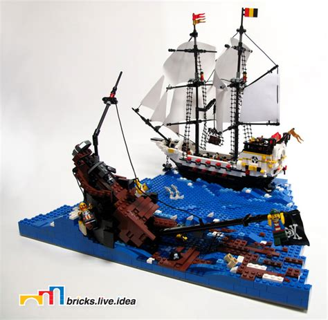 lego ship sinking in whirlpool lego pirate ship minifig scale argh we be sunk lego