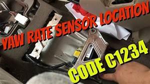 Toyota Sequoia Yaw Rate Sensor Location - Code C1234