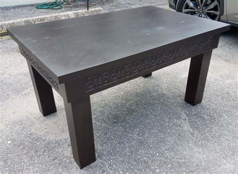 If ottoman largely retained its form, then a coffee table has evolved with time. Moroccan Rectangular Wooden Coffee Table-Simple For Sale at 1stdibs