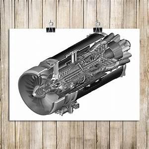 Hot Sale House Decoration Wall Sticker Aircraft Engine