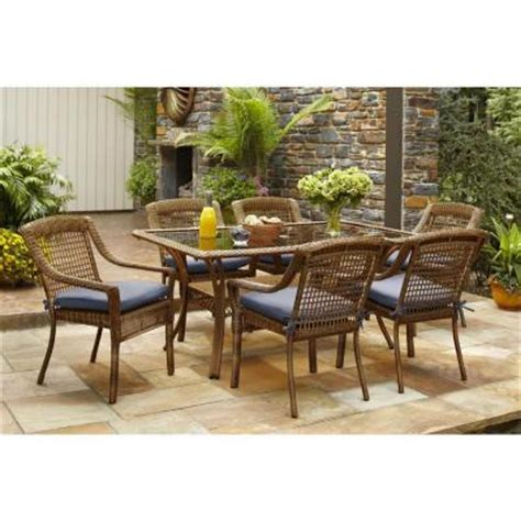 hton bay brown 7 all weather wicker