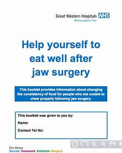 Great Manual For Post Jaw Surgery