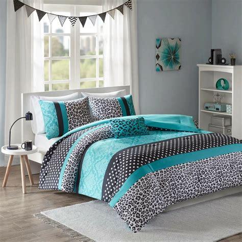 Teal Bedding by Modern Polka Dot Zebra Animal Stripe Cheetah Teal Blue