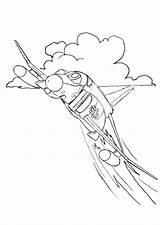 Fighter Coloring Jet Drawing Phantom Printable Popular F4 sketch template