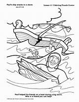 Paul Coloring Apostle Shipwrecked Bible Sunday Paulus Schipbreuk Lessons Crafts Bijbel Leidt Silas Ausmalbilder Kinder Pfingsten Church Biblia Lessen Testamento sketch template