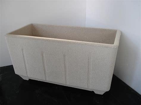 vasi in graniglia vaso fioriera rettangolare in cemento torino 80x38 h42cm