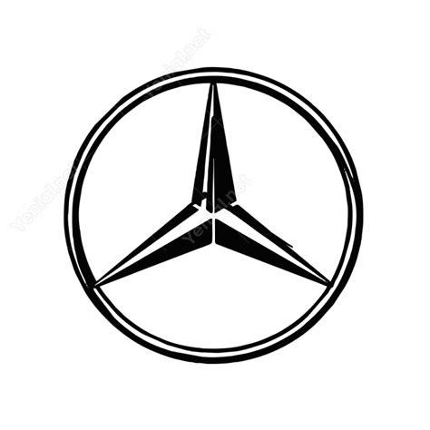 Mercedes Logo by Mercedes Logo Sticker Yapıştırma Etiket