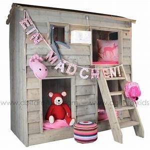 Lit Cabane Pour Enfant : lit cabane superpos pour enfant dutchwood abitare kids ~ Teatrodelosmanantiales.com Idées de Décoration