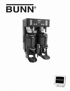 Bunn Single Tf Dbc Instruction Manual