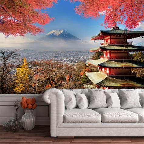 mt fuji japan wall mural wallpaper
